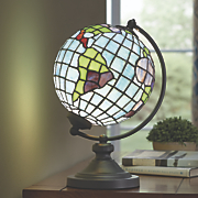 stained glass globe lamp