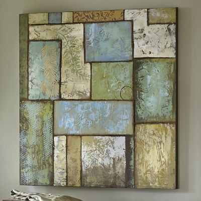 Nature's Patchwork Painted Canvas Print