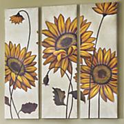 3 pc  sunflower print set