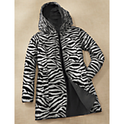reversible zebra pattern coat