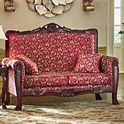 regal romantic hand carved loveseat