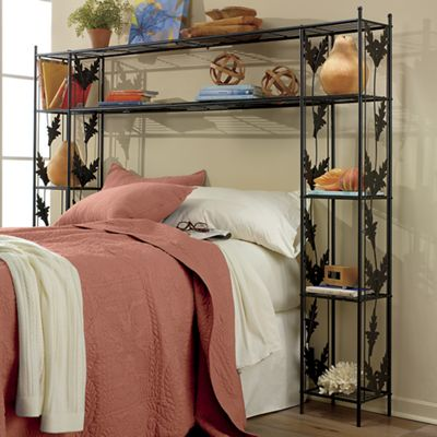 Laney Leaf Queen Storage Headboard