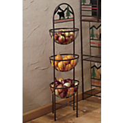 lodge bear 3 tier basket shelf