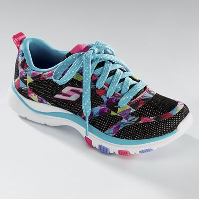 Girls' Trainer Lite Lace-Up Shoe by Skechers