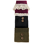 3 pk  boot socks in fall colors