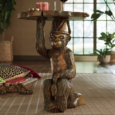 Hand-Carved Monkey Table