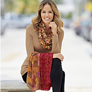 3 pc  autumnal infinity scarf set