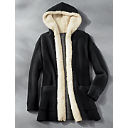 hooded open cardigan 34