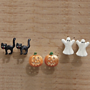 3 pair halloween post earring set