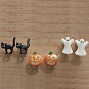 3 pair halloween post earring set