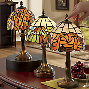 your choice stained glass mini touch lamp