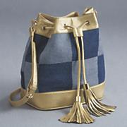 london denim bucket bag