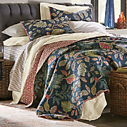 autumn leaves navy oversized quilt