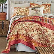 saffron oversized pieced quilt