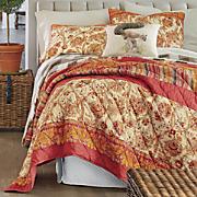 saffron oversized pieced quilt and sham