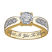 personalized brilliant cut cubic zirconia wedding ring