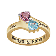 name birthstone hearts ring