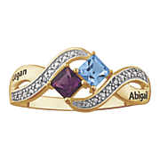name princess cut birthstone diamond ring