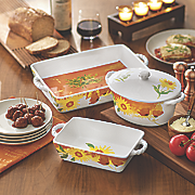 4 pc  oven to table bake   serve set by lenox