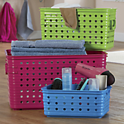 3 pc  assorted dot basket set