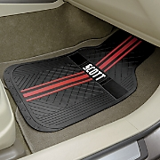 set of 2 personalized striped car mats