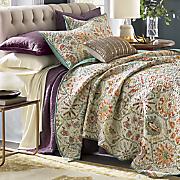 antique stone oversized quilt and sham
