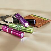 4 pc  assorted mini bling flashlight set
