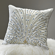 peacock plumes pillow