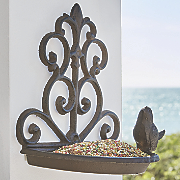 cast iron wall birdfeeder