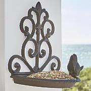 cast iron wall birdfeeder