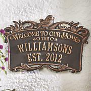 song bird welcome plaque