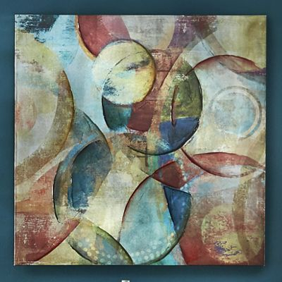 Abstract Spheres Canvas