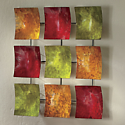 colored squares wall art