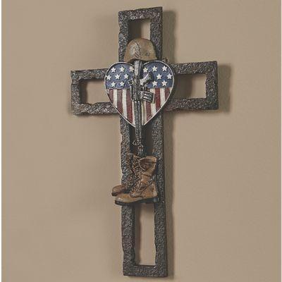 Fallen Soldier Memorial Wall Cross