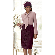 trista lace skirt and hat