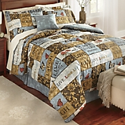 sentiments comforter set  accent pillow and window treatments