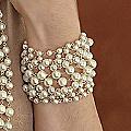 Faux Pearl Multi-Chain Bracelet