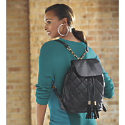 mandee quilted backpack