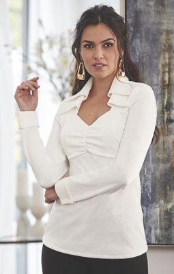 Blanca Double Collar Top