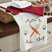 8 pc  personalized  bake shop  towel set