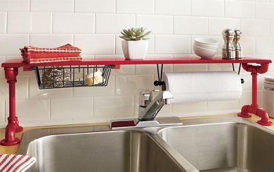 Over The Sink Pipe Shelf