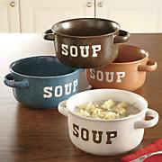 set of 4 stoneware soup bowls 3