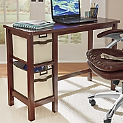 desk with 2 basket drawers