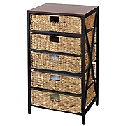 5 basket storage tower