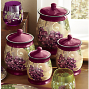 4 pc  grape vineyard canisters