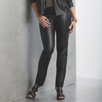 Misha Faux-Leather Pant