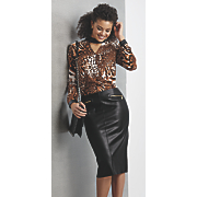 caterina top and faux leather misha skirt