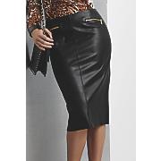 misha faux leather skirt