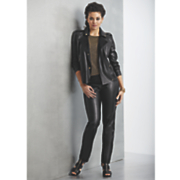 mischa faux leather moto jacket and pant