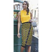 juliana sleeveless top and nika faux wrap skirt